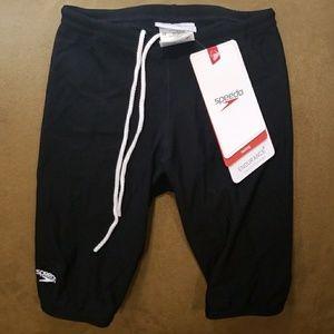 Youth Speedo Black Racing Swim Trunks - Size 22